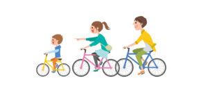 親子でサイクリング